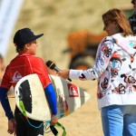 Leo interview. Quiksilver King of the Groms 2010, Hossegor. Foto Eric Chauche
