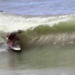 Forte dei Marmi. Filippo Orso durante l'Analog surf challenge