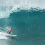Angelo a Pipeline. Team Volcom Europe Hawaii Trip