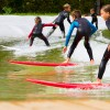 Surfing school at Wavegarden